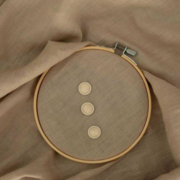 Knöpfe Baumwollknöpfen 18 mm  | Creme Weiß