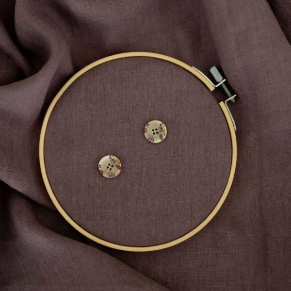 Knöpfe Blümchen 23 mm | Beige