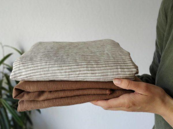 Leinen gewaschen Uni 200 g/m2 | Braun