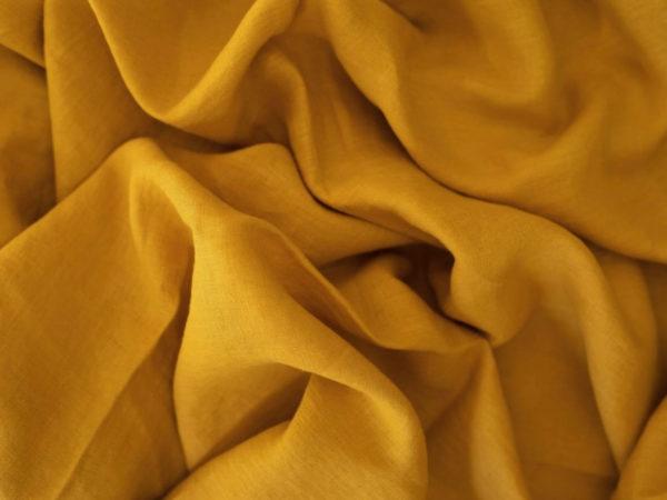 Leinen gewaschen Uni 200 g/m2 | Honey