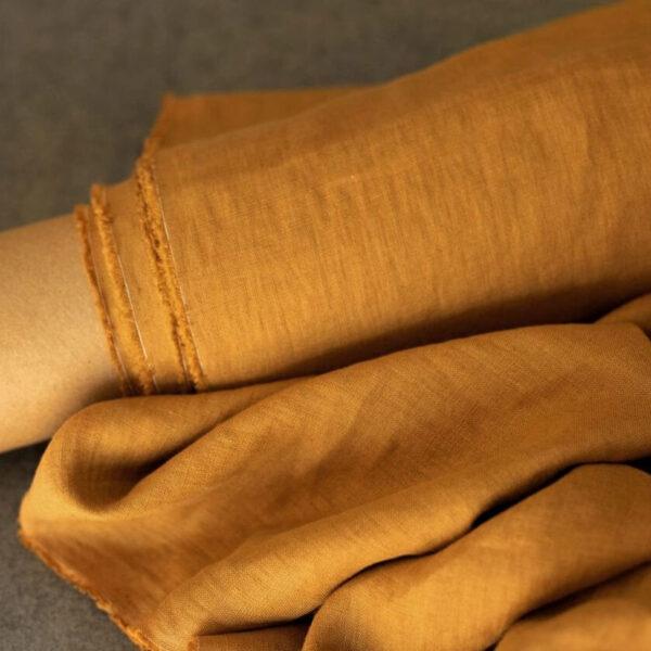 Leinen gewaschen Uni 200 g/m2 | Mustard