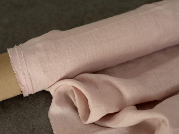 Leinen gewaschen Uni 200 g/m2 | Soft rose