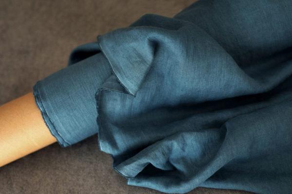 Leinen gewaschen Jeansblau