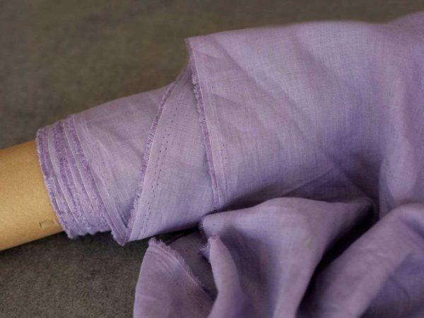 Leinen gewaschen Uni 200 g/m2 | Lavendel