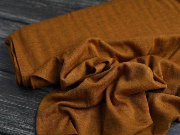 Merino Strick glatt 260 g/m2 | Mustard