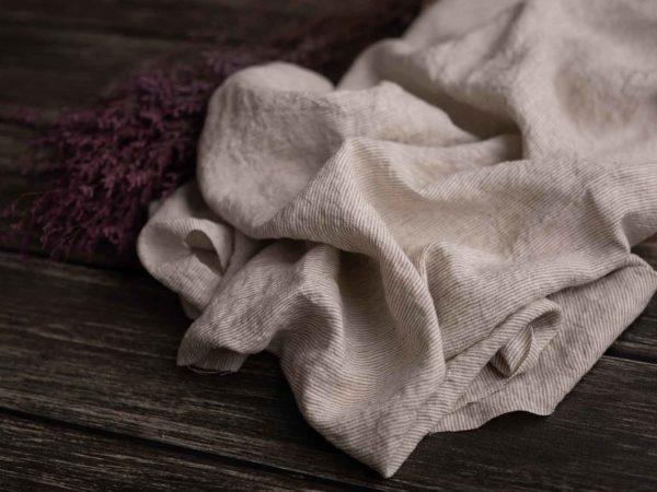Leinen-gewaschen-beige-streifen-210-g
