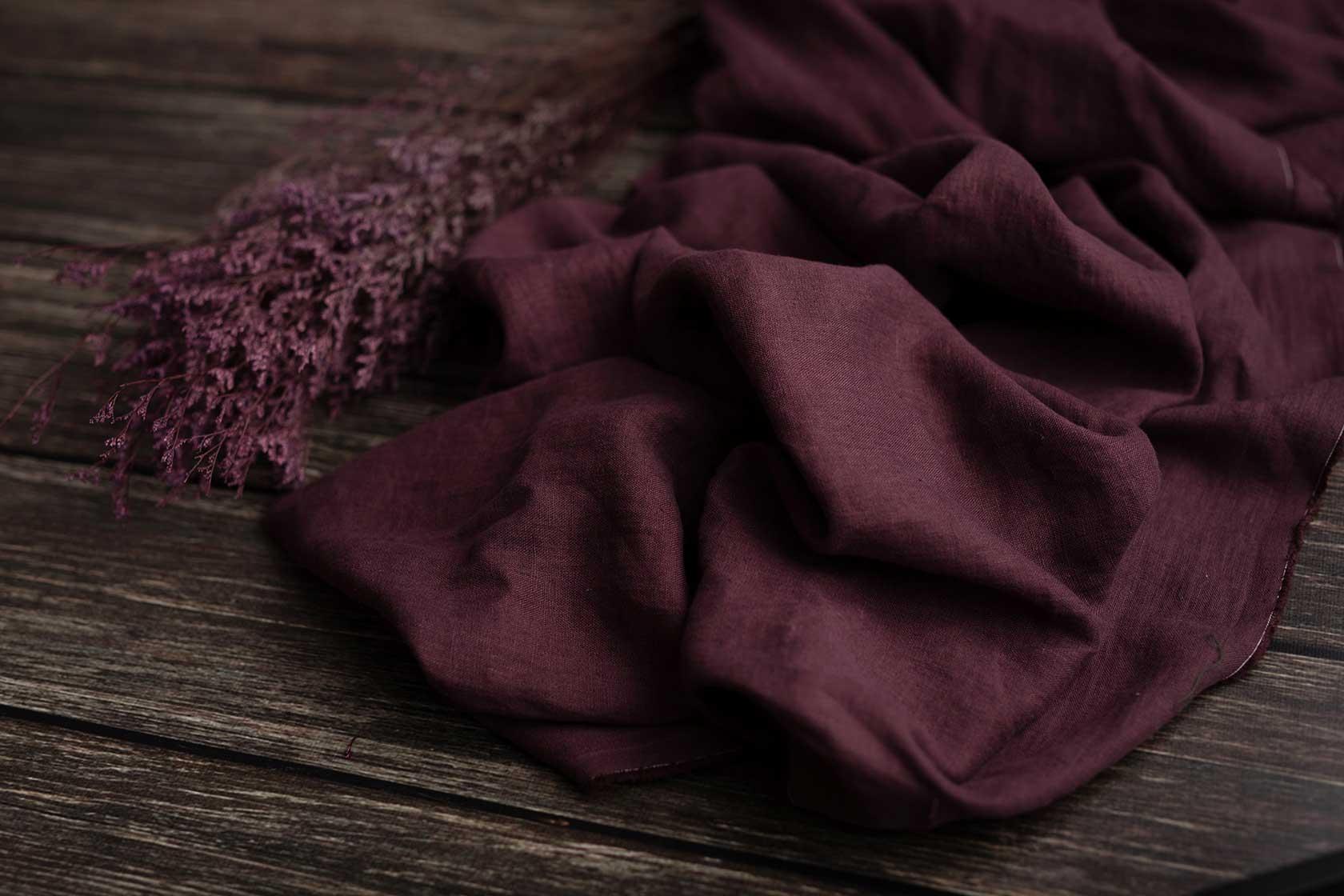 Leinen-gewaschen-burgund