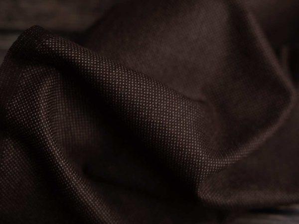 Wollstoff Punkte | Braun