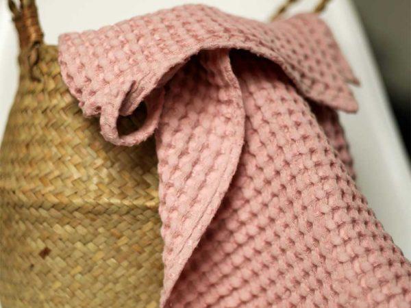Waffel Handtücher aus Leinen/ Cotton | Soft Rose