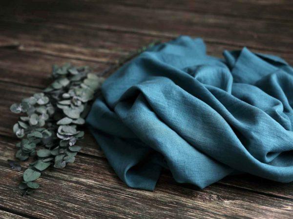 Leinen gewaschen Uni 200 g/m2 | Bondi Blue