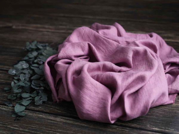 Leinen gewaschen Uni 200 g/m2   Dusty Rose