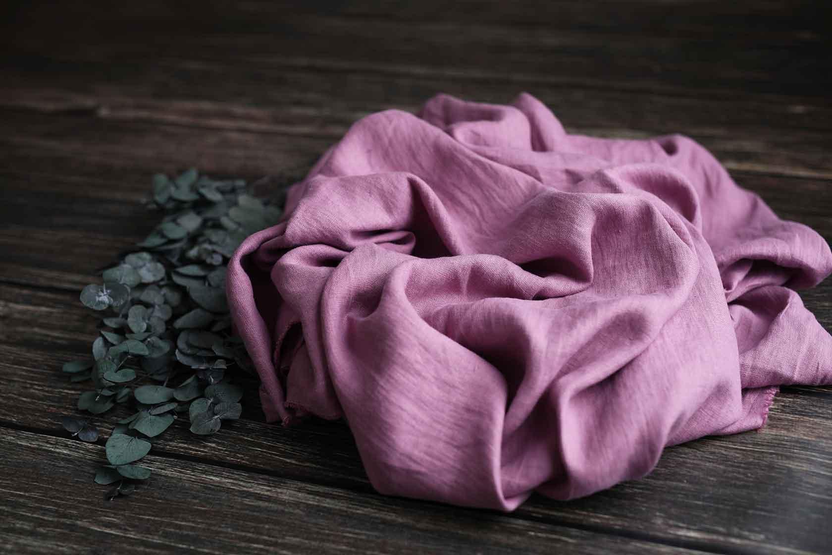 Leinen gewaschen Dusty Rose