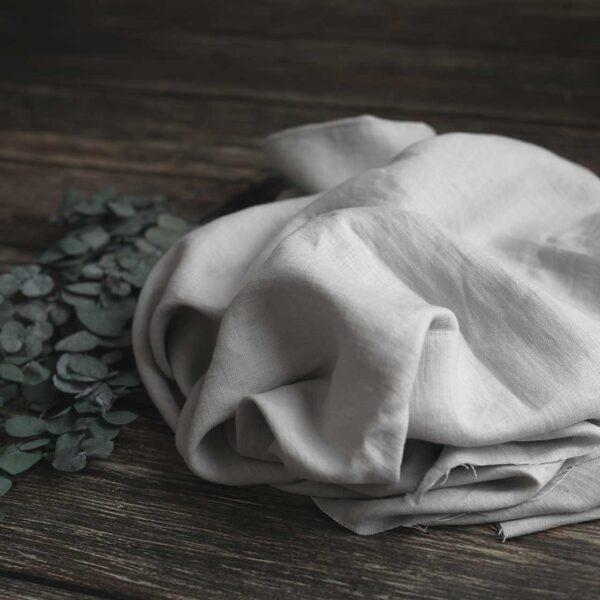 Leinen gewaschen Uni 200 g/m2 | Grau