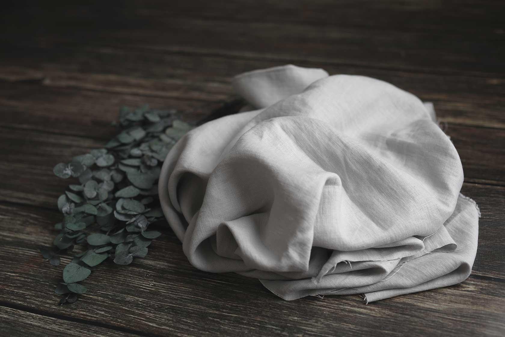 Leinen gewaschen Grau