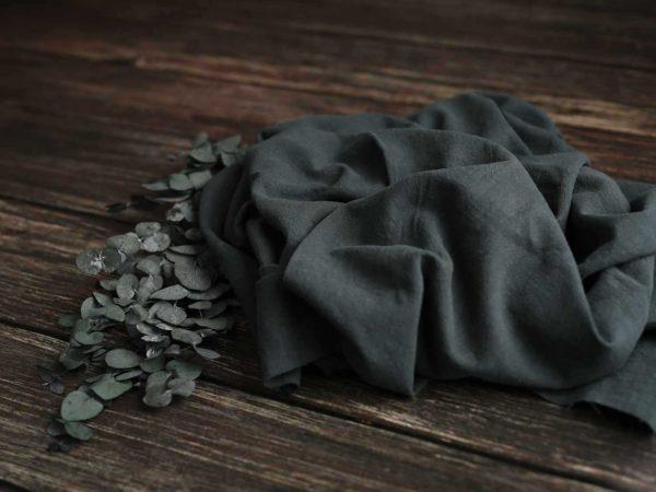 Ramie vorgewaschen Uni 250 g/m2 | Darkgreen