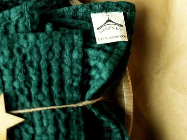 Waffel Handtücher aus Leinen/ Cotton | Emerald