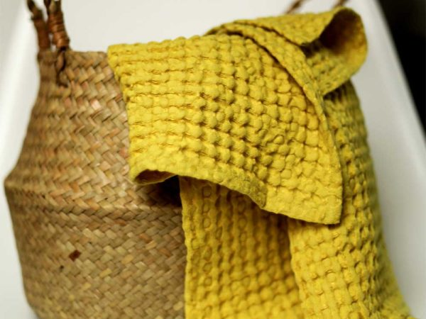 Waffel Handtücher aus Leinen/ Cotton  | Lemon