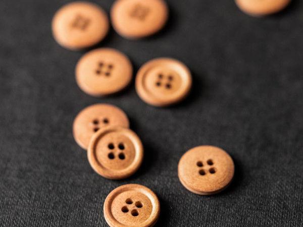 Cotton Button 15mm | Boston fall