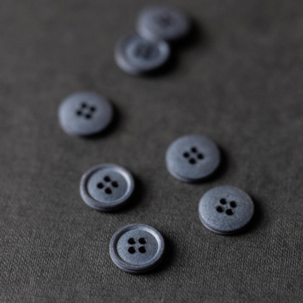 Cotton Button 15mm | Silt Grey