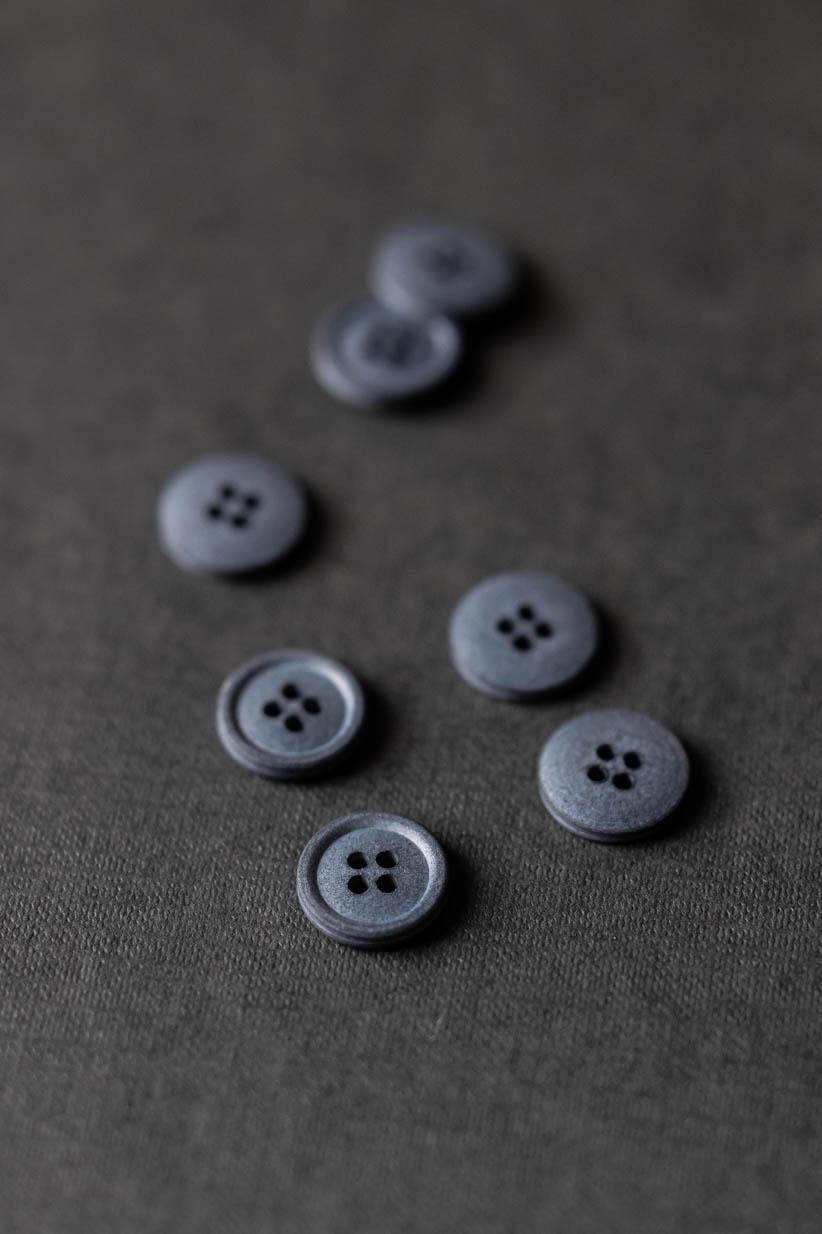 Cotton Knöpfe silt grey