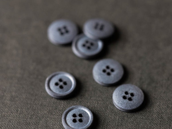 Cotton Button 15mm | Bazar Grey