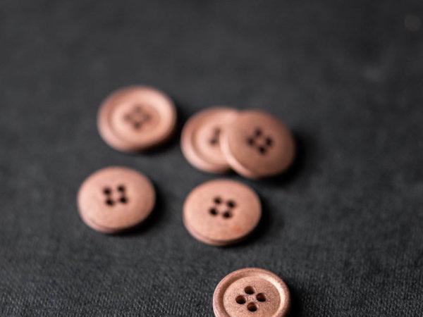 Cotton Button 15mm | Nutmeg
