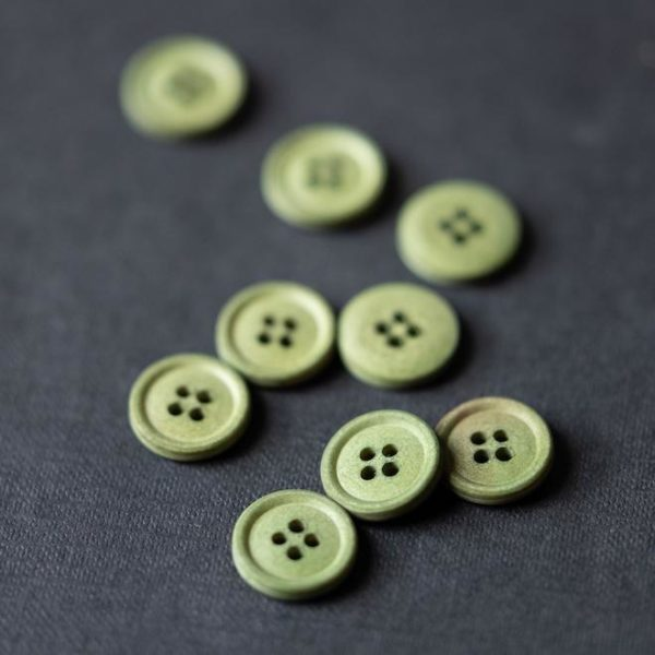 Cotton Button 15mm | Bowling green