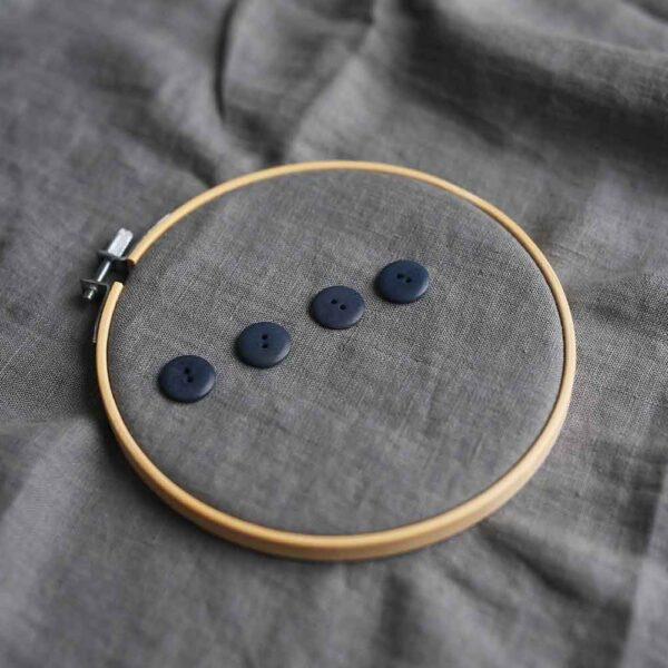 Knöpfe Steinnuss 18 mm  | Blau
