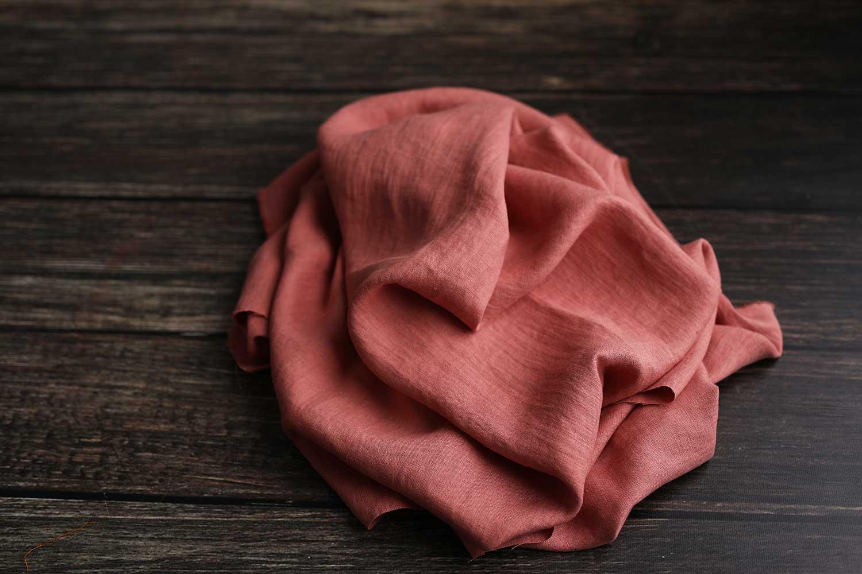 Leinen gewaschen Salmon Rose