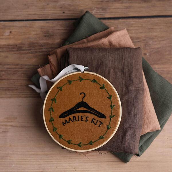Leinen gewaschen Uni 200 g/m2 | Kakao