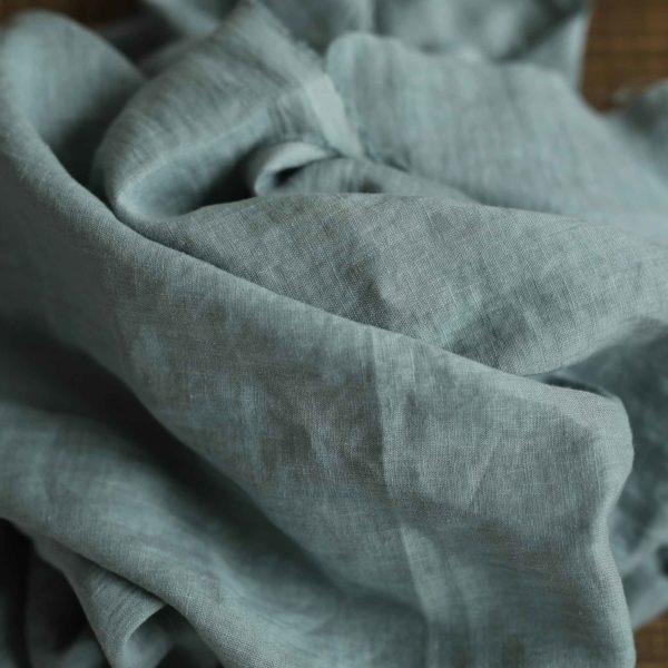 Leinen gewaschen Uni 130 g/m2 | Blue Mint