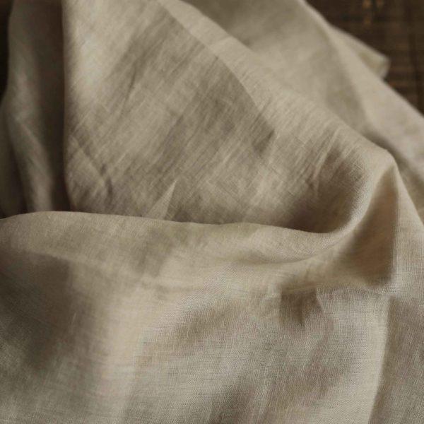 Leinen gewaschen Uni 130 g/m2 | Sand