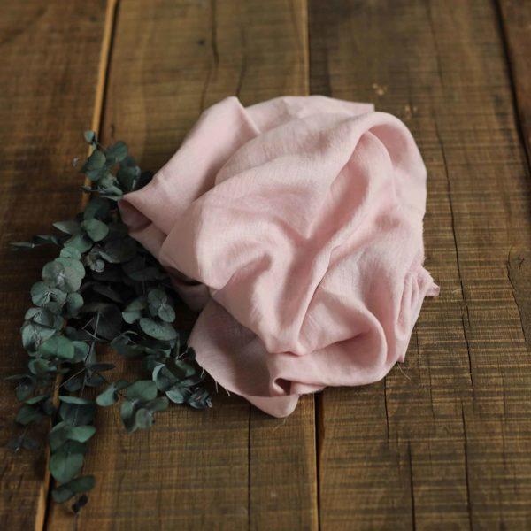 Leinen gewaschen Uni 130 g/m2 | Soft rose