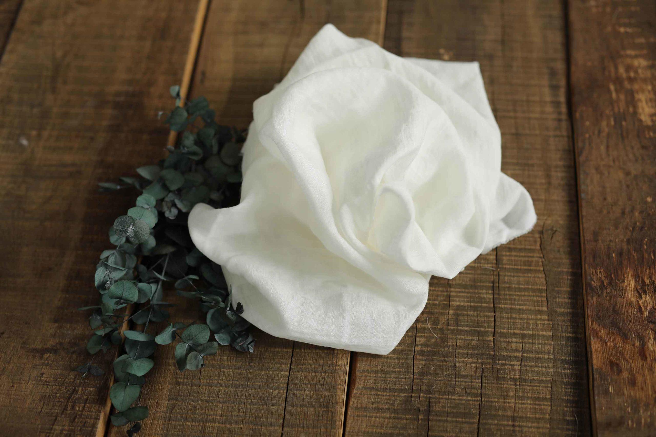 Leinen weiß gewaschen