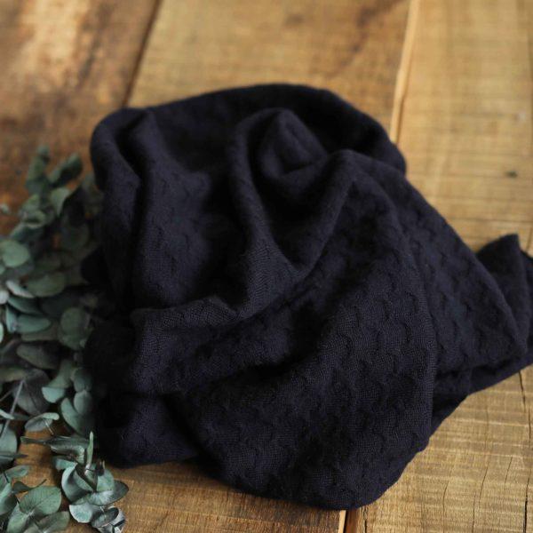 Merino-Wollstrick Muster 260 g/m2 | Marineblau