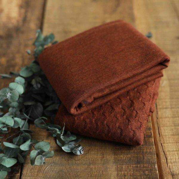 Merino-Wollstrick glatt 260 g/m2 | Rostbraun