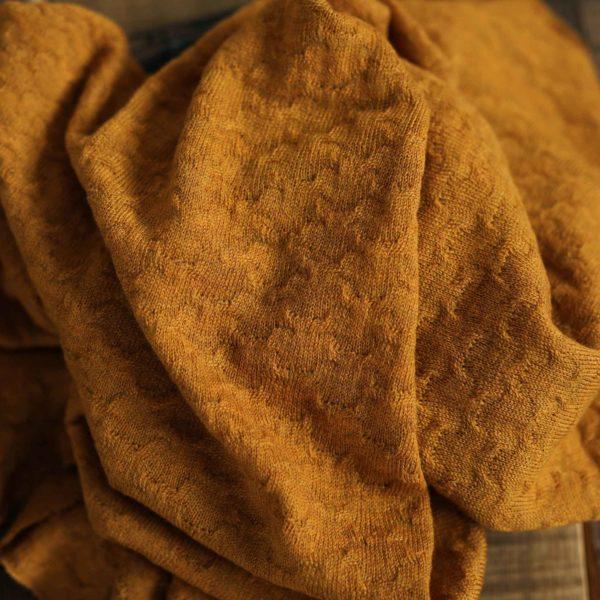 Merino-Wollstrick Muster 260 g/m2 | Mustard