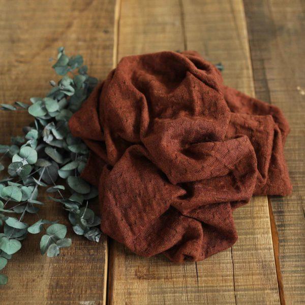 Merino-Wollstrick Muster 260 g/m2 | Rostbraun