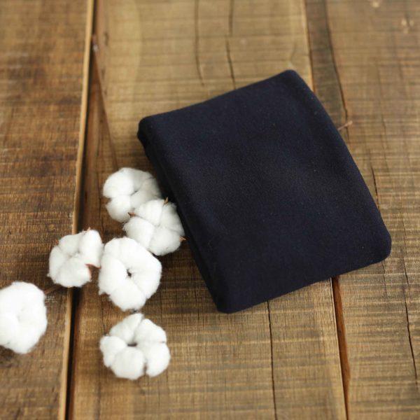 Merino-Wollstrick glatt 260 g/m2 | Marineblau