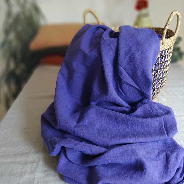Halbleinen gewaschen Uni 170 g/m2 | Lavendel