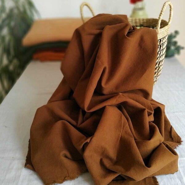 Halbleinen gewaschen Uni 170 g/m2 | Toffee