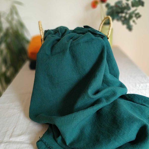 Leinen gewaschen Uni 210 g/m2 | Emerald